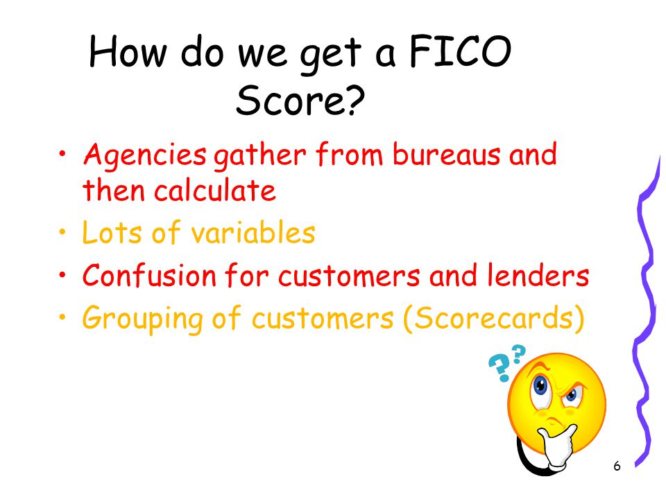 6 How do we get a FICO Score.