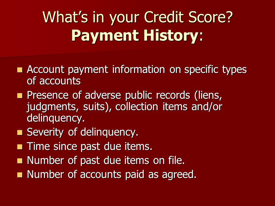 delinquency adverse public record or collection