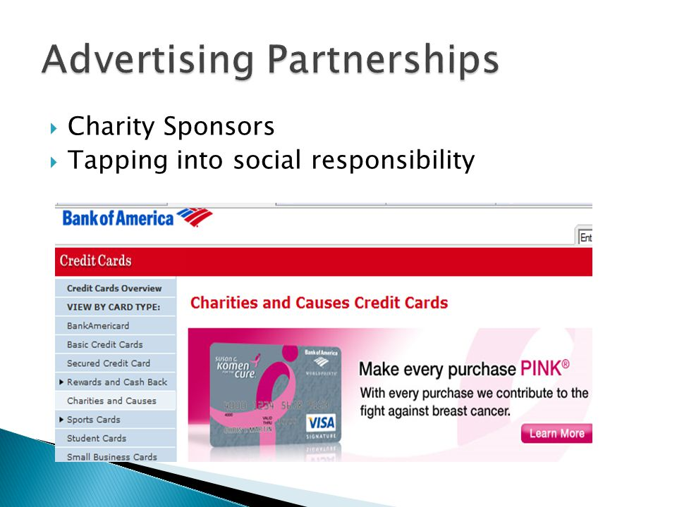 Charity Sponsors Tapping into social responsibility