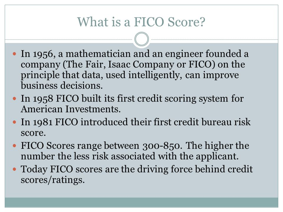 What is a FICO Score.