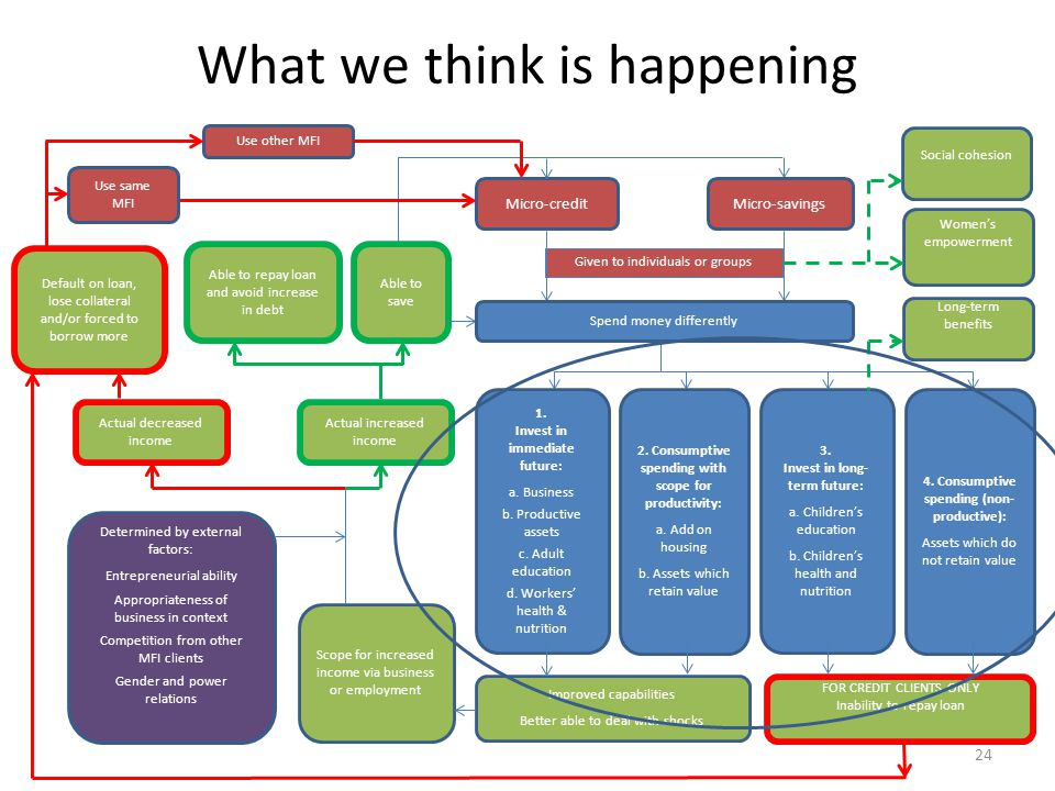 What we think is happening 1. Invest in immediate future: a.