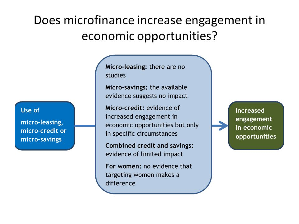 Does microfinance increase engagement in economic opportunities