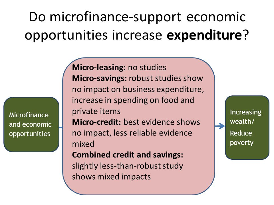 Do microfinance-support economic opportunities increase expenditure.
