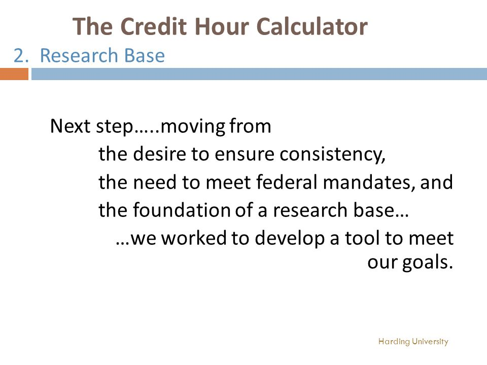 The Credit Hour Calculator 2.