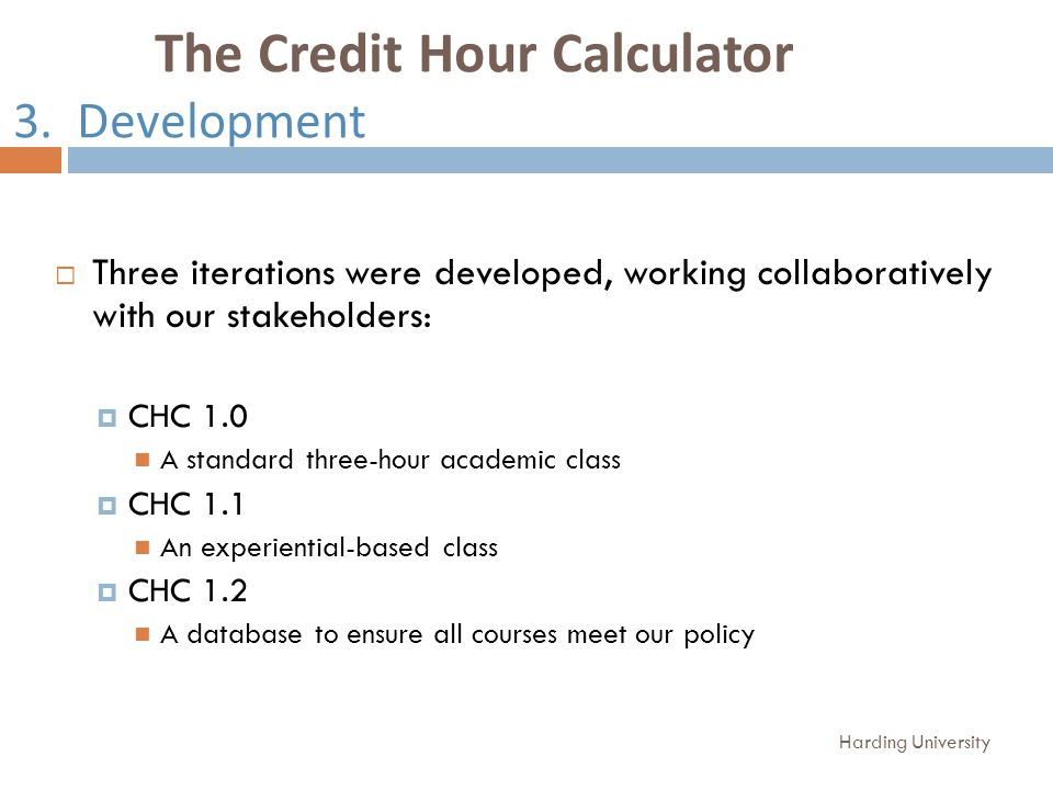 The Credit Hour Calculator 3.