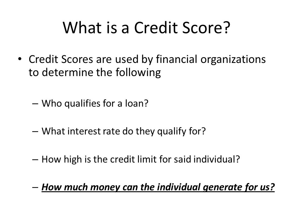 What is a Credit Score.