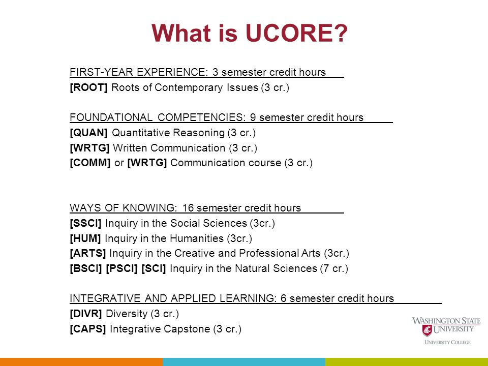 What is UCORE.