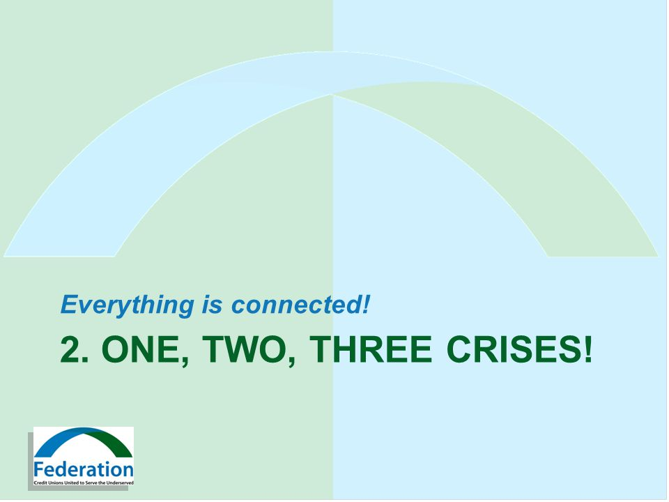 2. ONE, TWO, THREE CRISES! Everything is connected!