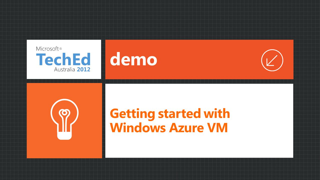 demo Getting started with Windows Azure VM