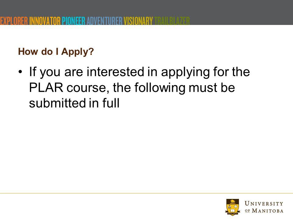 How do I Apply.