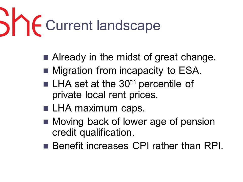 Current landscape Already in the midst of great change.