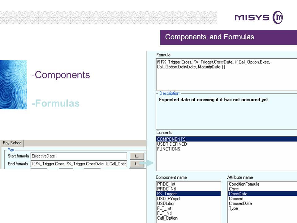 Harnessing the Network of Banking Intelligence Components and Formulas - Components -Formulas