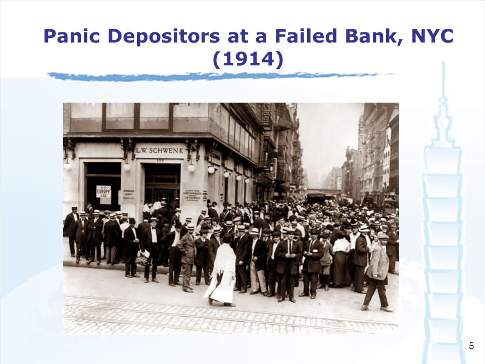 5 Panic Depositors at a Failed Bank, NYC (1914)