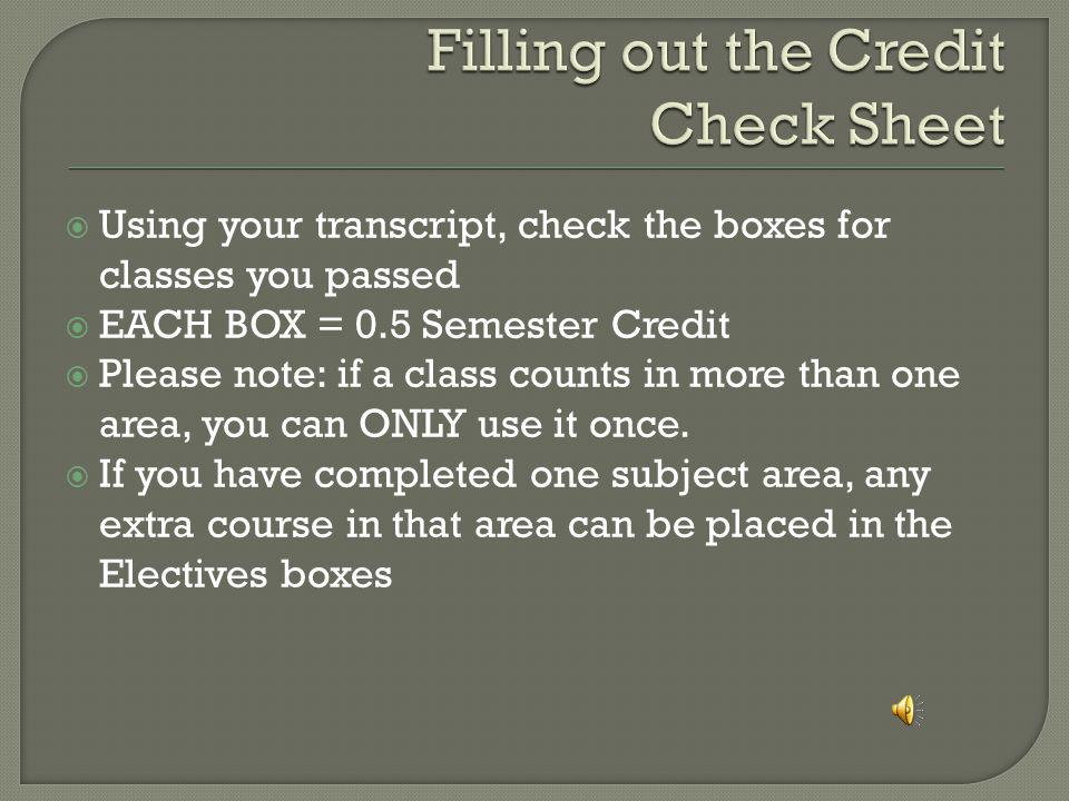 Pages 14-15 of the Timberline Course Catalog shows what credit each class counts toward