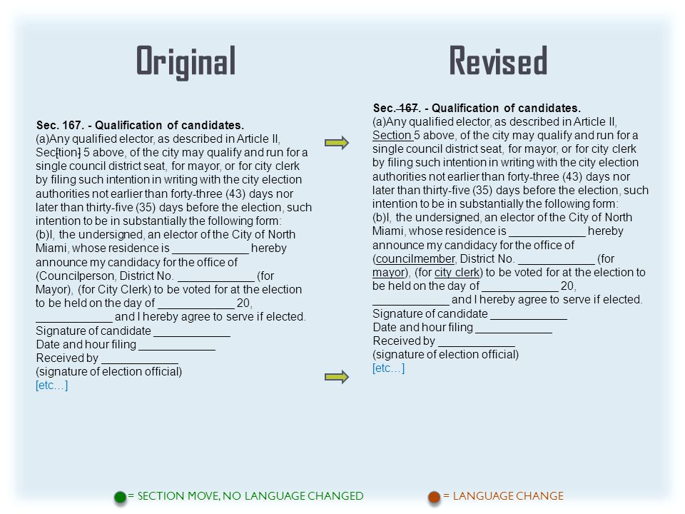 OriginalRevised = SECTION MOVE, NO LANGUAGE CHANGED = LANGUAGE CHANGE Sec.
