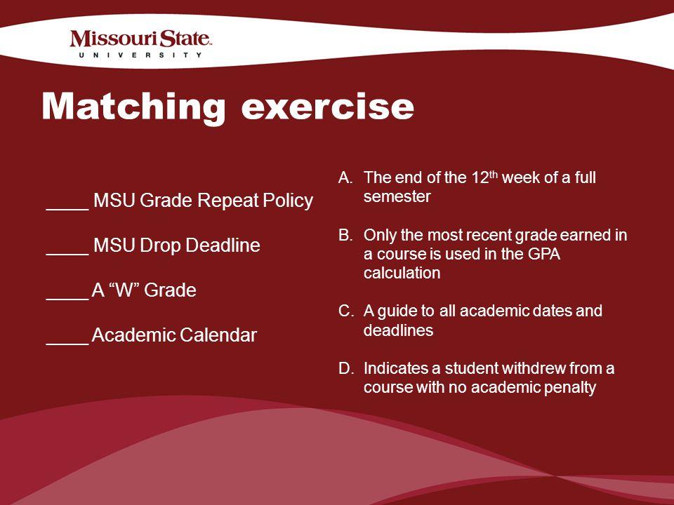 Msu Academic Calendar.4 6 20100office Department Understanding Academic Probation