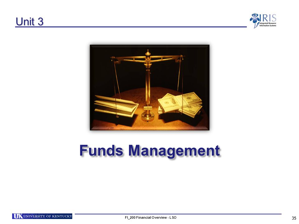 FI_200 Financial Overview - LSO 35 Unit 3 Funds Management
