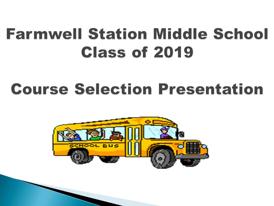 Farmwell Station Middle School Class of 2019 Course Selection Presentation