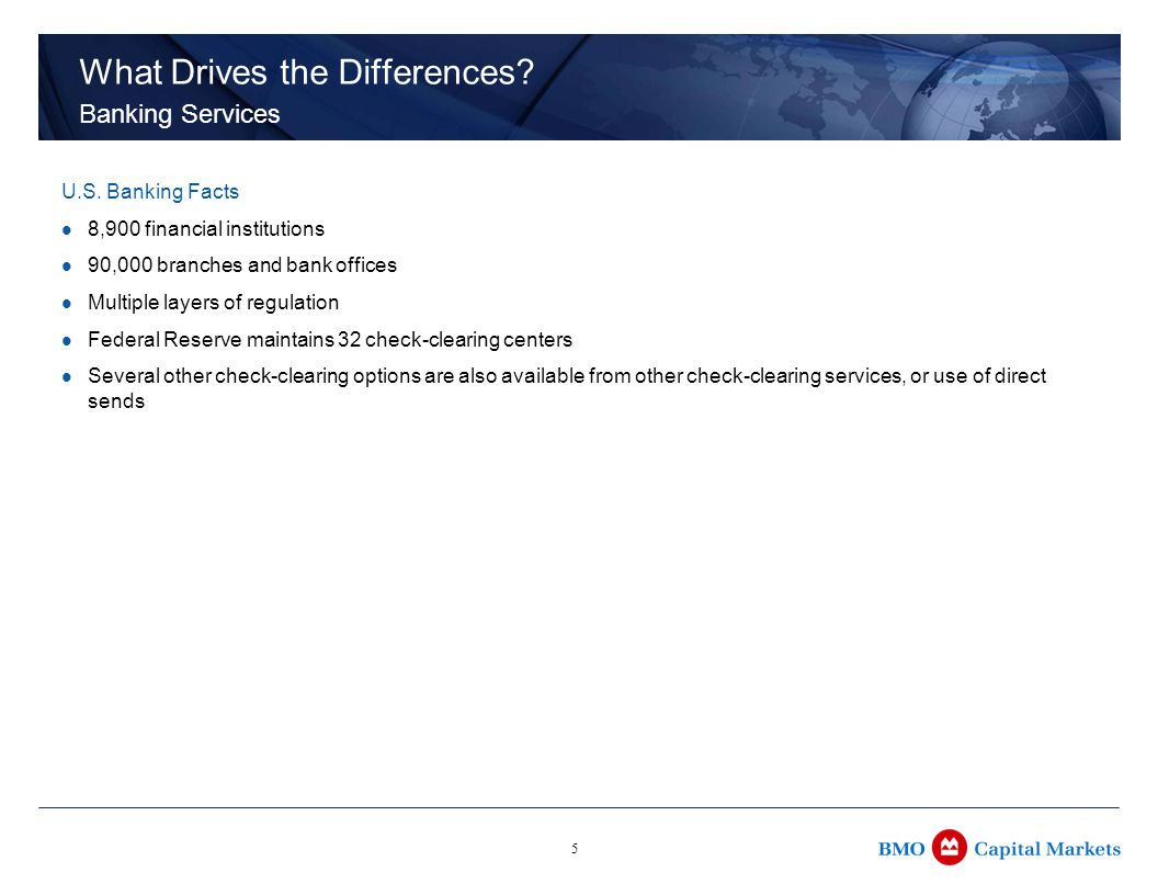 5 What Drives the Differences. Banking Services U.S.