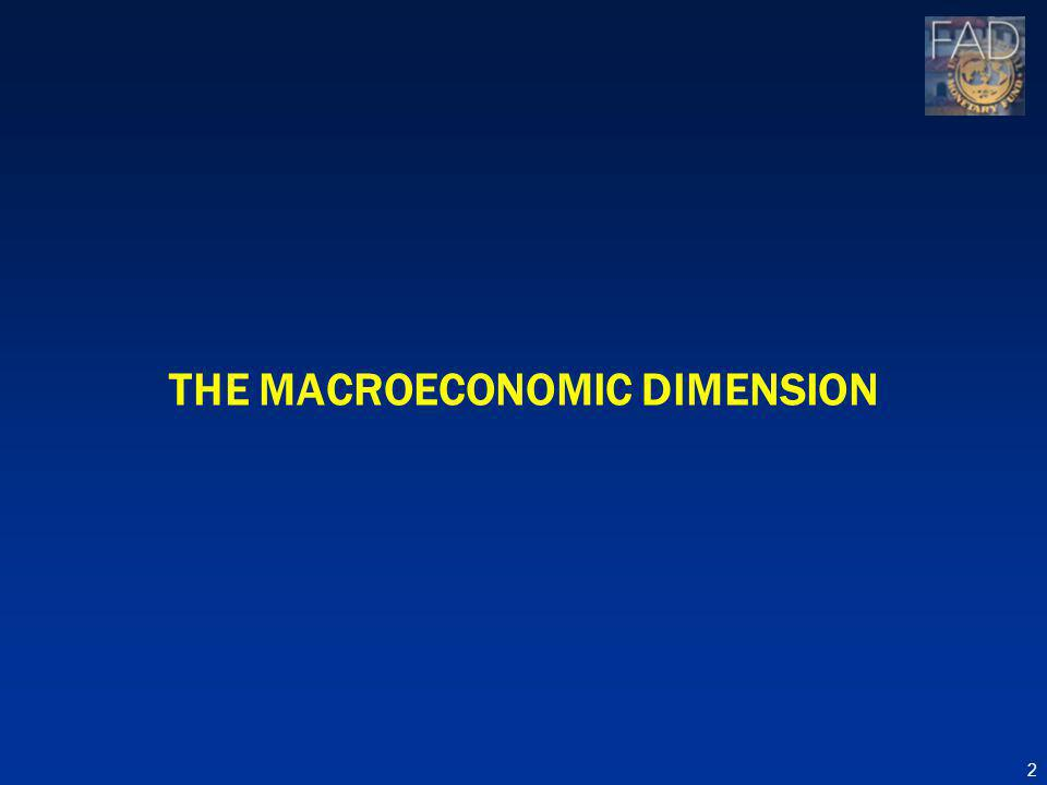 THE MACROECONOMIC DIMENSION 2