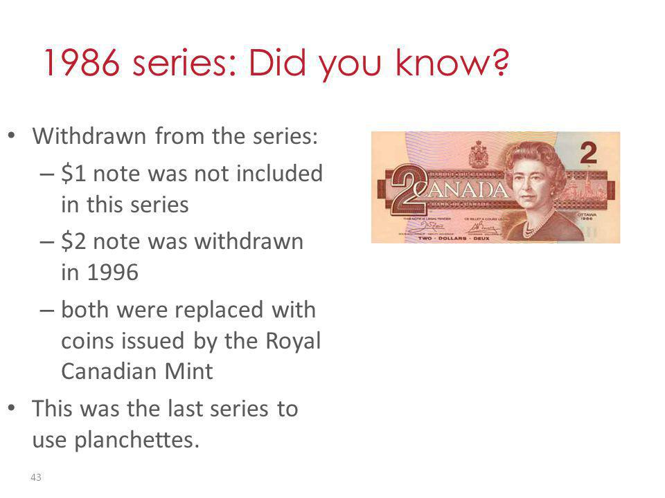 1986 series: Did you know.