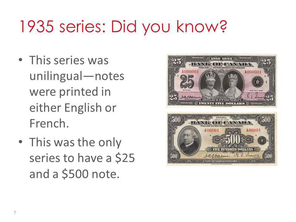 1935 series: Did you know.
