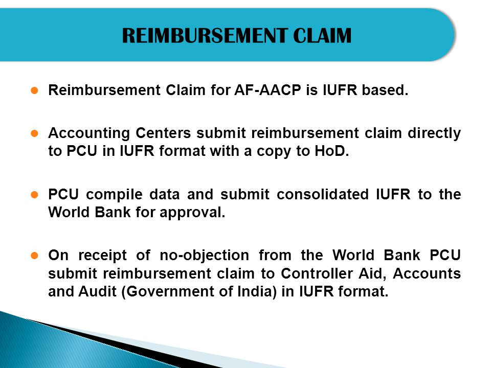 Monthly Reimbursement Report Submitted to PCU and their HODs Due Date15 th of the following month Required supporting documents 1.