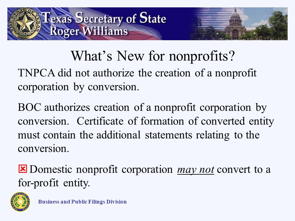 Whats New for nonprofits.