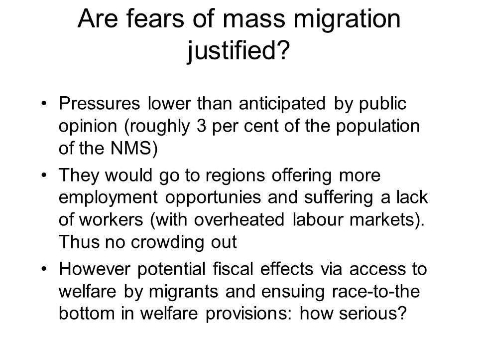 Are fears of mass migration justified.
