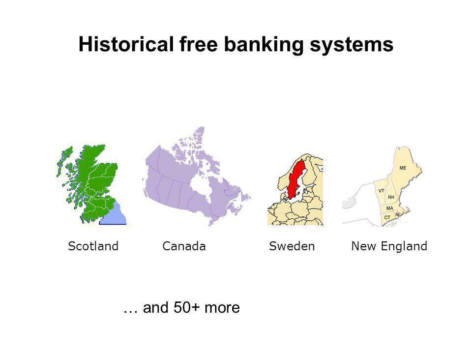 Scotland Canada Sweden New England Historical free banking systems … and 50+ more