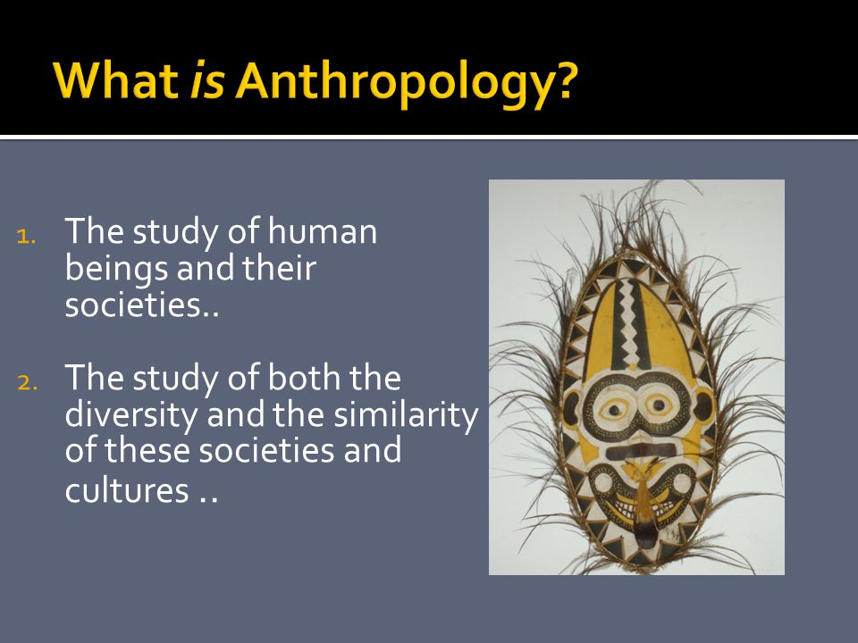 1. The study of human beings and their societies..