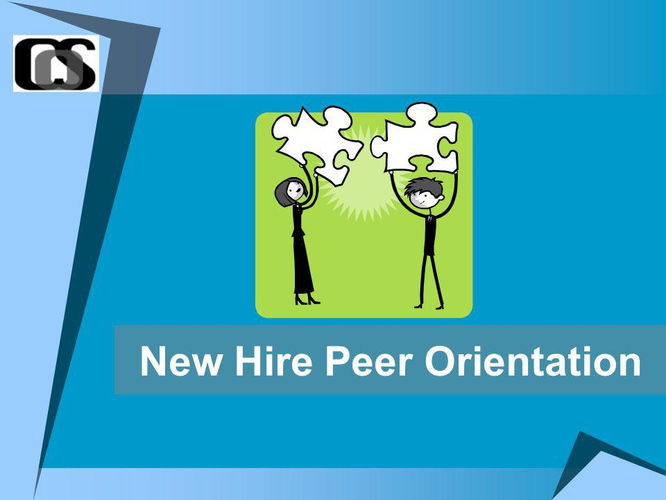 New Hire Peer Orientation