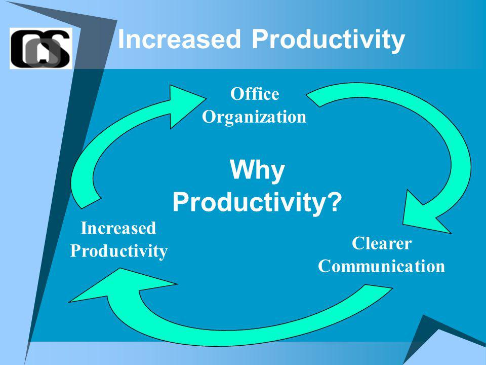 Increased Productivity Office Organization Clearer Communication Increased Productivity Why Productivity