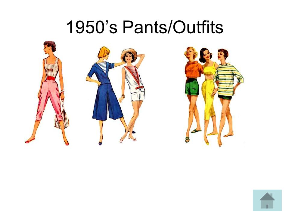 1950s Pants/Outfits