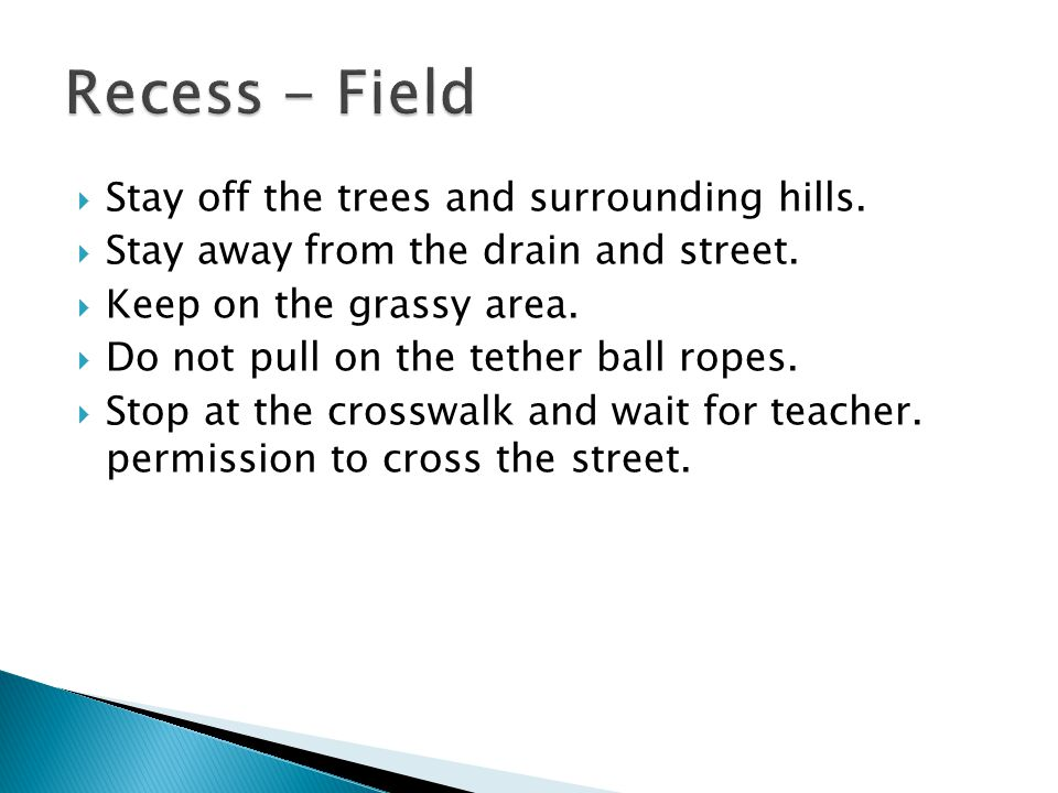 Stay off the trees and surrounding hills. Stay away from the drain and street.