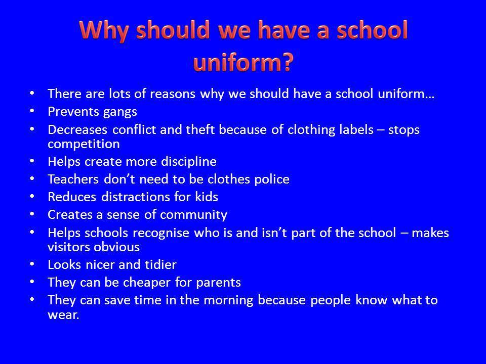 why we need school uniforms