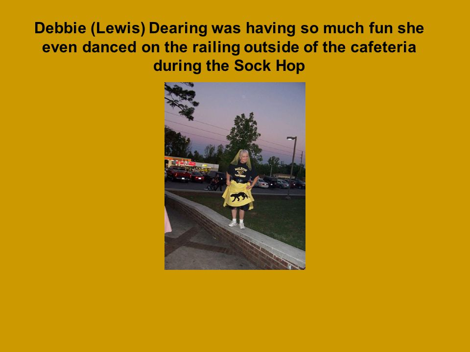 Debbie (Lewis) Dearing handmade hers, her daughters, and her granddaughters dresses for the Sock Hop
