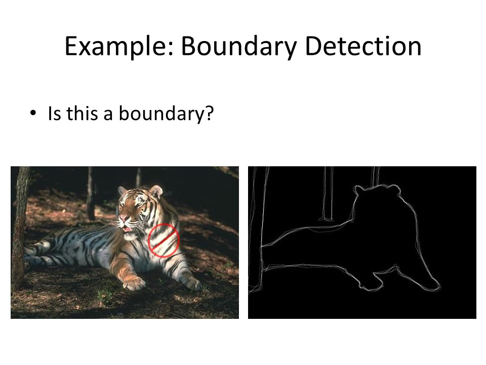 Example: Boundary Detection Is this a boundary