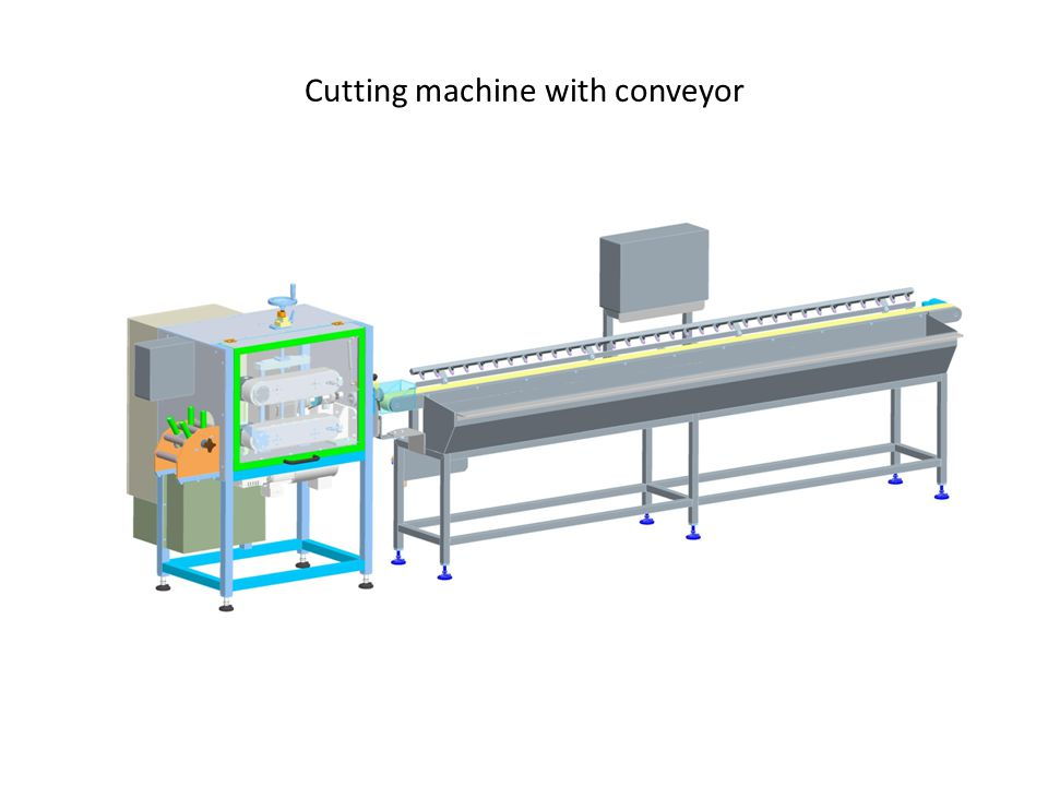 Cutting machine with conveyor