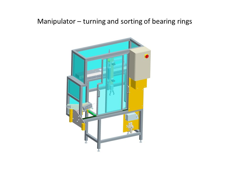 Manipulator – turning and sorting of bearing rings