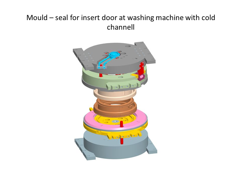 Mould – seal for insert door at washing machine with cold channell