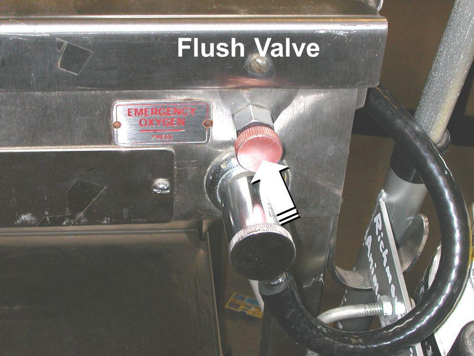 INHALATION ANAESTHESIA BREATHING SYSTEMS Flush Valve