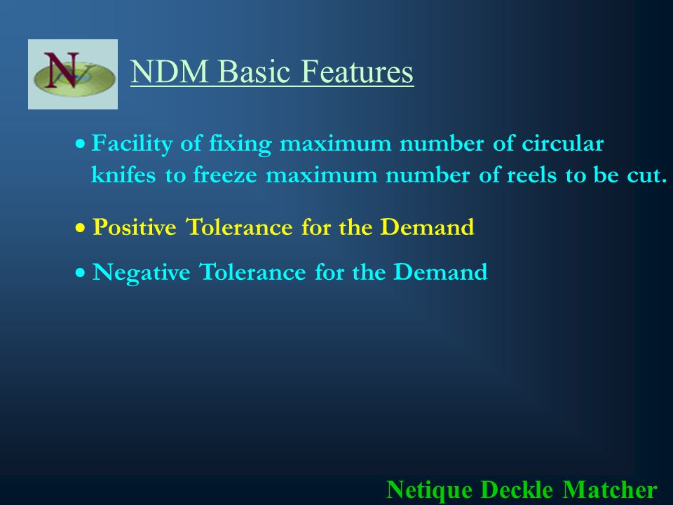 NDM Basic Features Data is processed for confirmed orders.