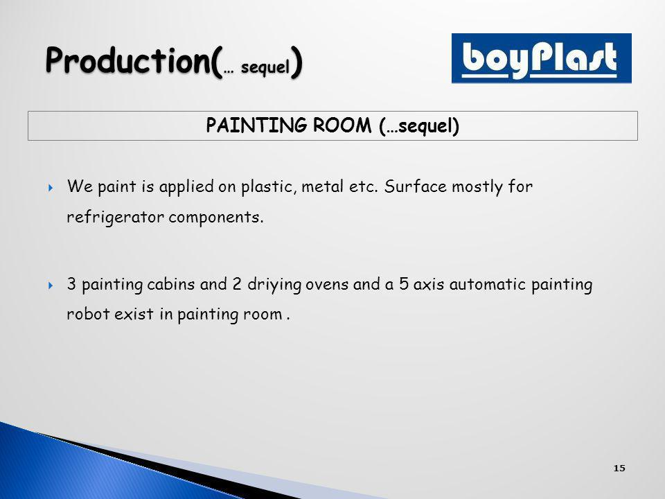 We paint is applied on plastic, metal etc. Surface mostly for refrigerator components.