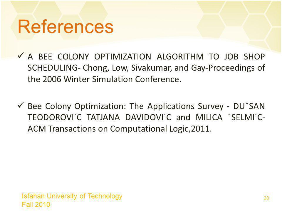 Artificiel Bee Colony ABC Algorithme Isfahan University Of