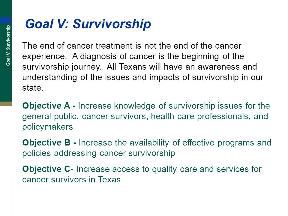 The end of cancer treatment is not the end of the cancer experience.