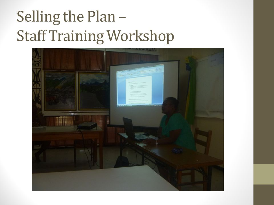 Selling the Plan – Staff Training Workshop