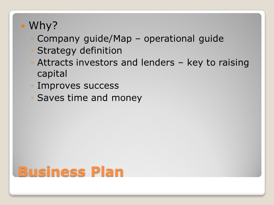 Business Plan Why.