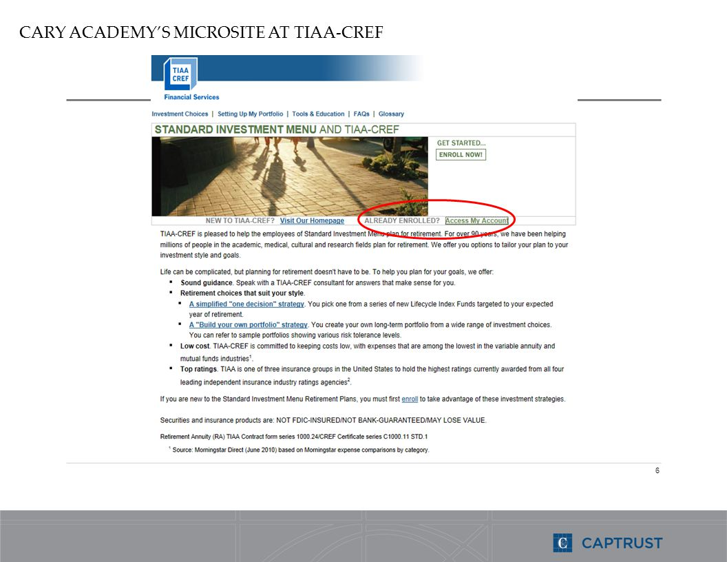 6 CARY ACADEMYS MICROSITE AT TIAA-CREF