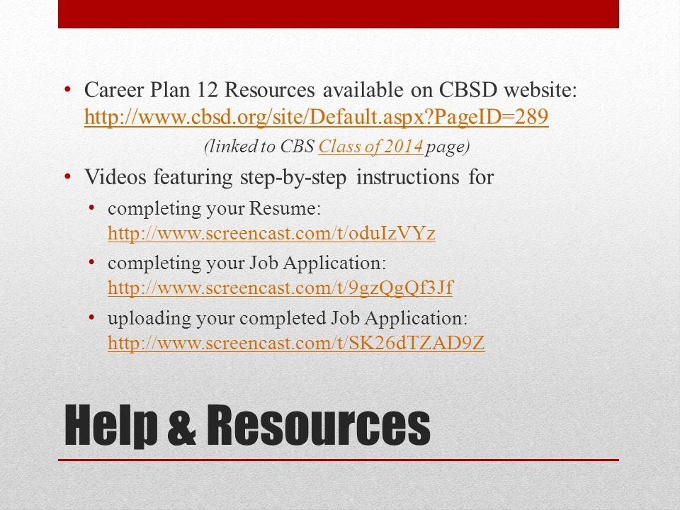 career plan 12 student guide resume job application ppt download